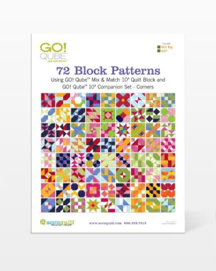 "GO! Qube 10"" Companion Set Corners-72 Block Patterns Booklet"