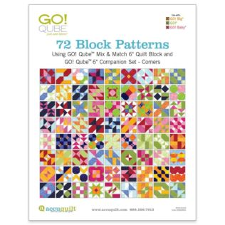 "GO! Qube 6"" Companion Set Corners-72 Block Patterns Booklet"