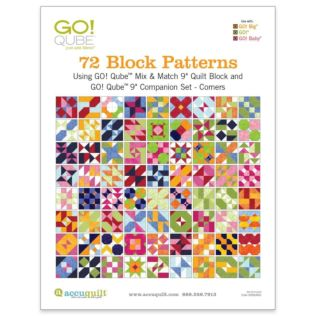"GO! Qube 9"" Companion Set Corners-72 Block Patterns Booklet"