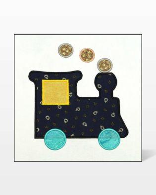 GO! Train Embroidery Designs