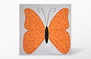 GO! Butterflies Embroidery Designs by Linda Horne (LH-BUe) Candlewick Motif Shown