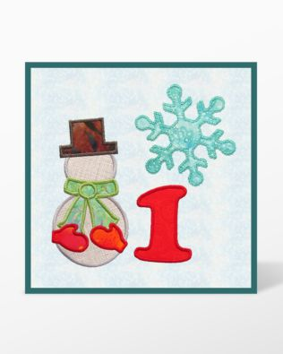 GO! Winter Bliss Wall Hanging Machine Embroidery Designs CD Set by Marjorie Busby