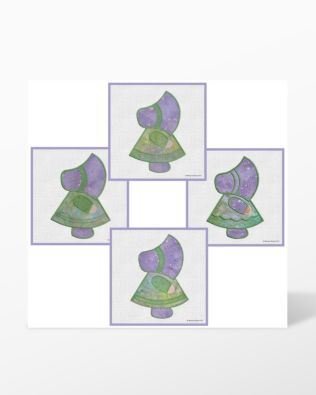 GO! Sunbonnet Sue Embroidery Designs CD by Marjorie Busby