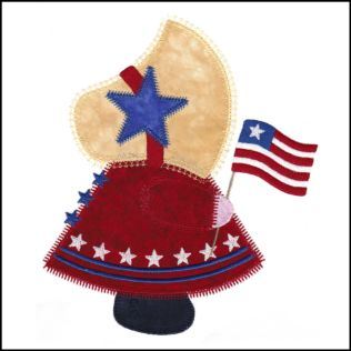 GO! Patriotic Sunbonnet Sue Embroidery Design by V-Stitch Designs