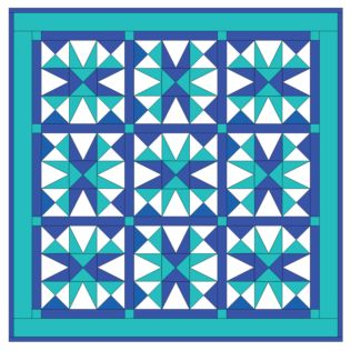 GO!® Cool Blue Star Quilt Pattern- Free (PQ10213i)
