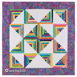 GO! Scrappy Star Log Cabin Quilt Pattern (PQ10259)