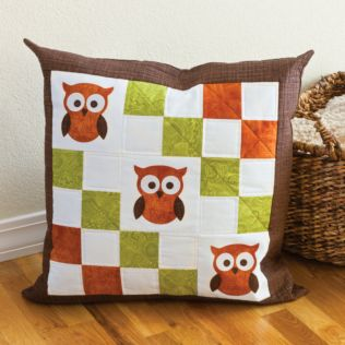 GO! Owl Pillow Pattern (PQ10305)