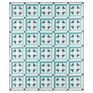 GO! Seafoam Churn Dash Quilt Pattern (PQ10308)