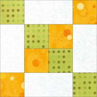 "GO! Frayed 4-Patch 9"" Block Pattern (PQ10548)"