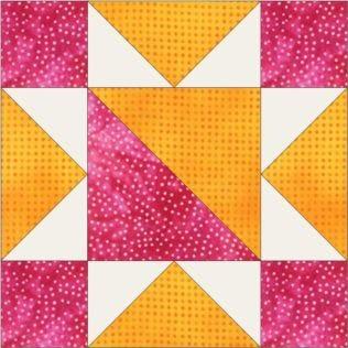"""GO! Hourglass Star No. 1 6"""" Block Pattern (PQ10623)"""