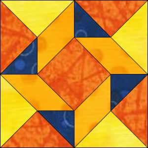 """GO! Flying Triangles 12"""" Block Pattern"""