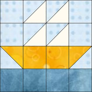 "GO! Boat 9"" Block Pattern (PQ10528)"
