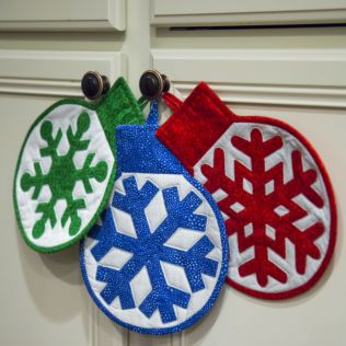 GO! Ornament Hotpads Pattern (PQ10679)