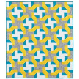 "GO! Qube 8"" Cutting Edge Throw Quilt Pattern (PQ10747Q)"