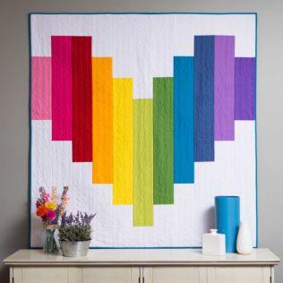 GO! Piece of My Heart Strip Quilt Pattern (PQ11039)