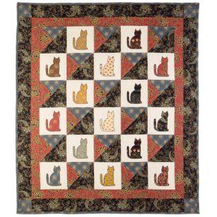"GO! Qube 12"" Laura's Kitty Quilt Pattern (PQ11040)"