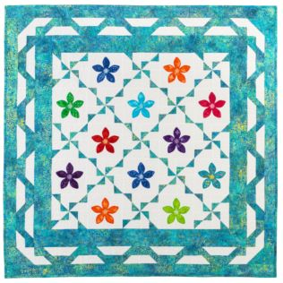 "GO! Qube 6"" Rick Rack Flower Throw Quilt Pattern (PQ11047)"
