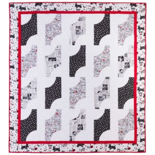 """GO! Qube 12"""" Gone to the Dogs Quilt (PQ11060)"""