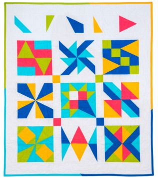 "GO! Qube 9"" Patch Party Sampler Quilt Pattern"