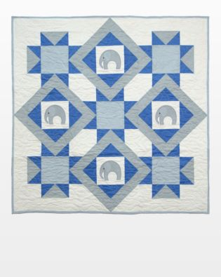 GO! Elephants on Parade Throw Quilt Pattern