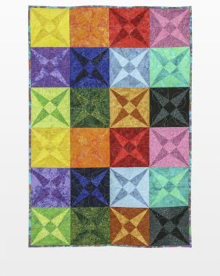 GO! Rainbow Canoeing on the Canal Quilt Pattern