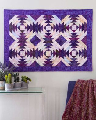 GO! Purple Pineapple Wall Hanging Pattern