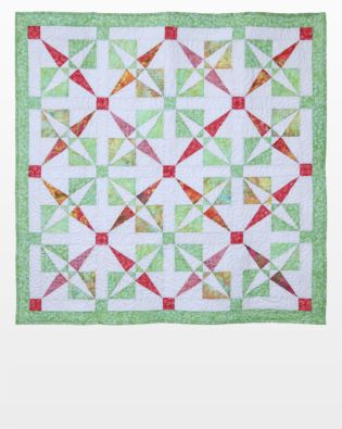 GO! Crossed Canoes Throw Quilt Pattern