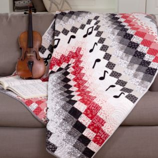 "GO! Qube 8"" Bargello Music Quilt Pattern"