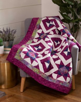 "GO! Qube 10"" Starry Spools Throw Quilt Pattern"