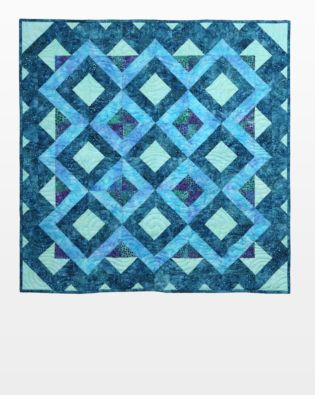 "GO! Qube 10"" Vortex Mosaic Throw Quilt Pattern"