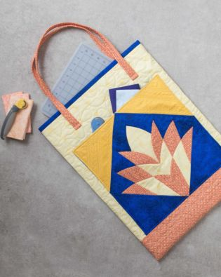 GO! Cleo's Fan Fun Cutting Mat Shoulder Tote Pattern