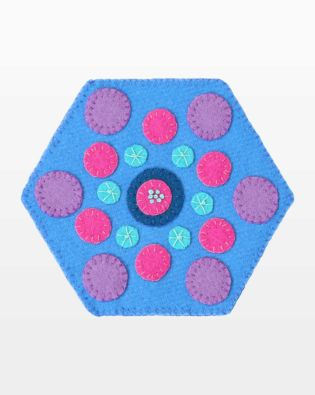 GO! Circles Hexagon Wool Mug Rug Pattern