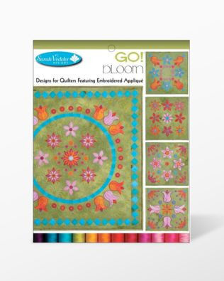 Bloom Embroidery Designs CD for GO! By Sarah Vedeler
