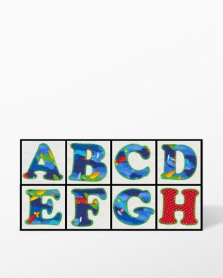 Alphabet #1 Embroidery by V-Stitch Designs