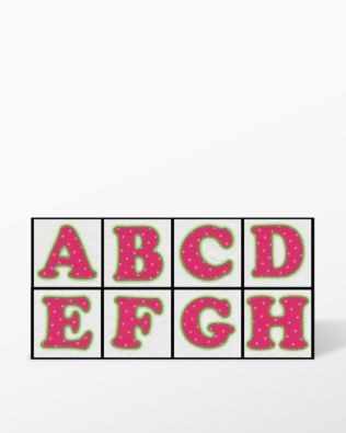 Alphabet #3 Embroidery by V-Stitch Designs