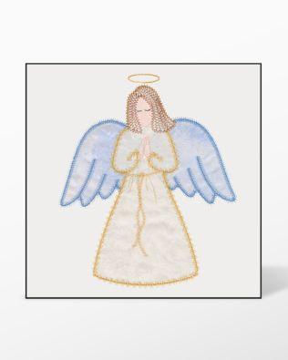 GO! Angel Single #1 Embroidery Designs by V-Stitch Designs
