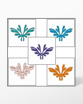 GO! Arabesque #2 Embroidery Designs by V-Stitch Designs (VQ-ARB2)