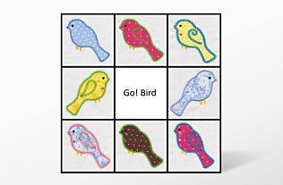 GO! Bird Embroidery Designs by V-Stitch Designs (VQ-Blbe)