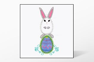 GO! Bunny on Egg Embroidery Designs by V-Stitch Designs