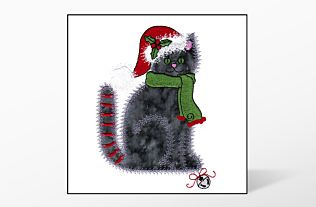 GO! Christmas Calico Cat Embroidery Designs by V-Stitch Designs (VQ-CCC)