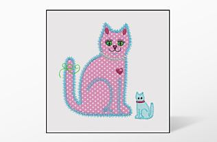 GO! Calico Cat Single #1 Embroidery Designs by V-Stitch Designs
