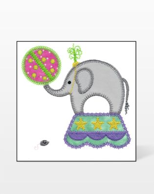 GO! Circus Elephant Embroidery Designs by V-Stitch Designs