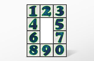 GO! Carefree Numbers #2 Embroidery Designs by V-Stitch Designs