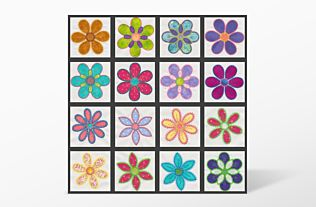GO! Crazy Petals Embroidery Designs by V-Stitch Designs (VQ-CPE)