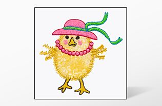 GO! Chick Single #3 Embroidery Designs by V-Stitch Designs