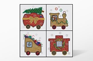 GO! Christmas Train Embroidery by V-Stitch Designs (VQ-CT1)