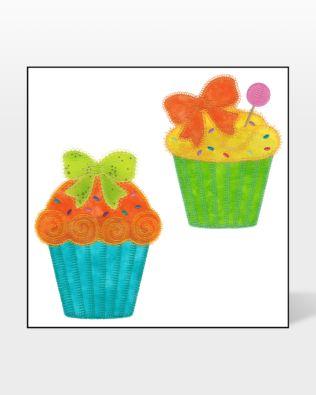 GO! Designer Cupcakes Embroidery Designs by V-Stitch Designs (VQ-DC1)