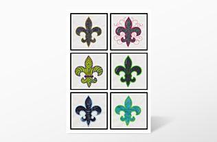GO! Fleur De Lis Embroidery by V-Stitch Designs (VQ-FDLE)