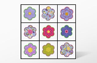 GO! Flower 55446 Set Embroidery Designs by V-Stitch Designs