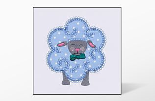 GO! Flower Sheep Single #4 Embroidery Designs by V-Stitch Designs
